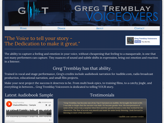Greg Tremblay Voiceovers