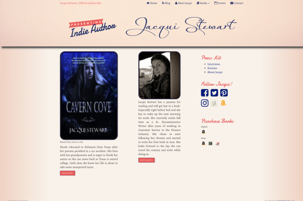 Jacqui Stewart Author Site
