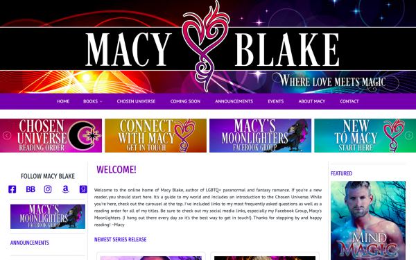 Macy Blake Author Site