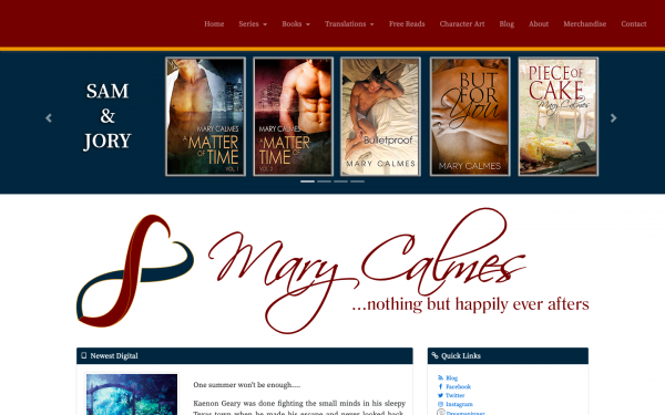 Mary Calmes Author Site